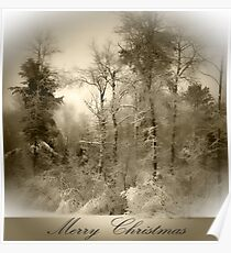 Wintry Merry Christmas Poster