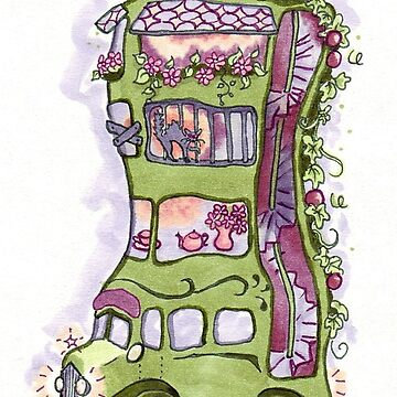 Permaculture House Bus with Vagabond possums by CeciMacaulay