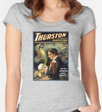 Thurston the great magician 1915 Vintage Poster Fitted Scoop T-Shirt