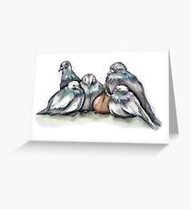about pigeons and onions part 1 Greeting Card