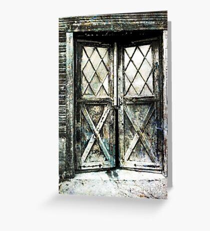 Diamond Doors Greeting Card