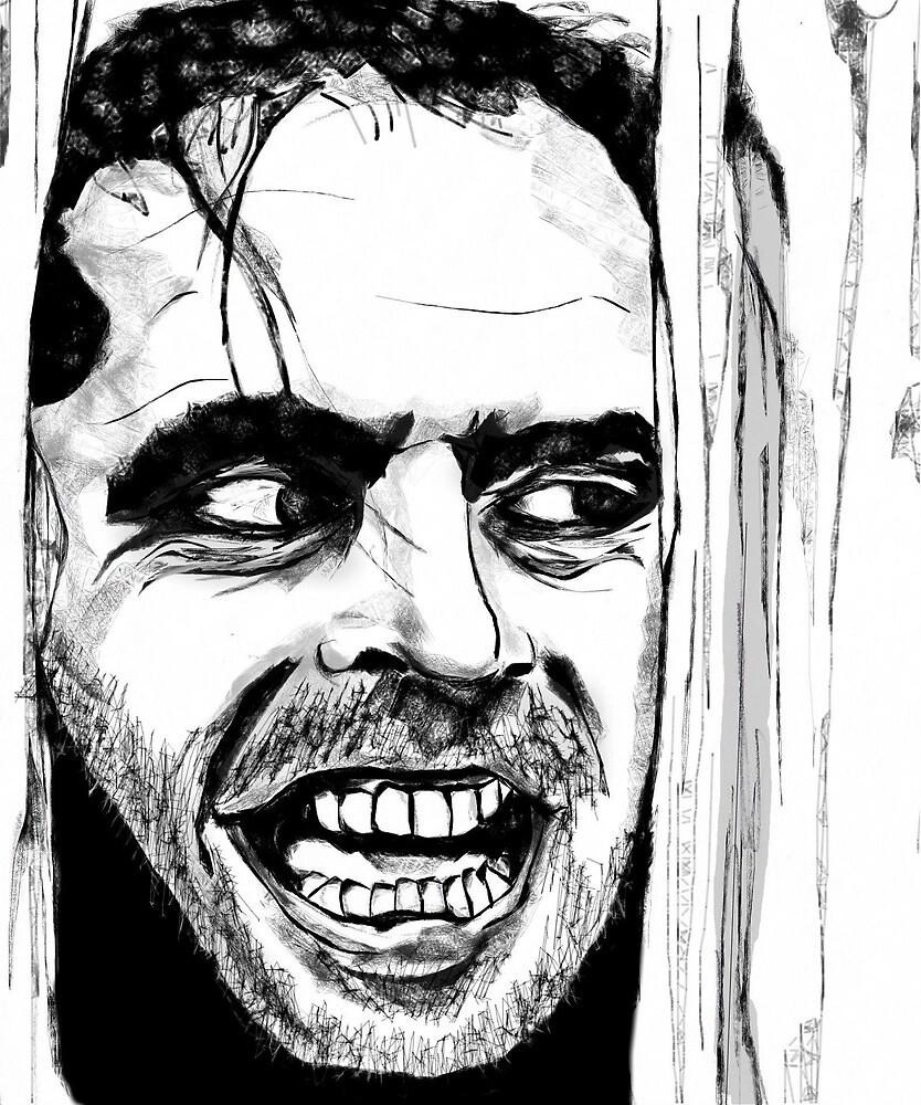 The Shinning Horror Movie Art by Sarah Zinkann