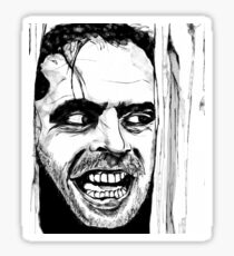 The Shinning Horror Movie Art Sticker
