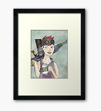 aim to misbehave Framed Print