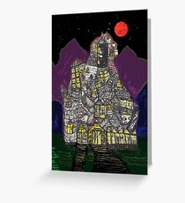 Haunted House Hill Greeting Card