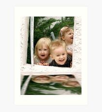 Reflections of laughter Art Print