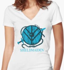 shieldmaiden t-shirt Women's Fitted V-Neck T-Shirt