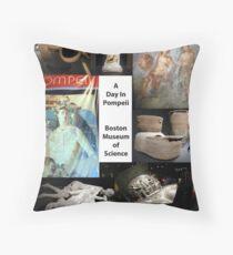 Day in Pompei Collage  Throw Pillow