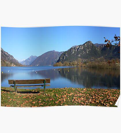 Panoramic bench Poster