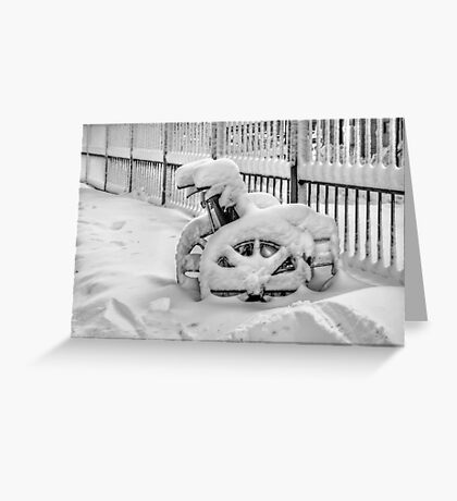 Cold Disposition Greeting Card