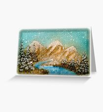 Winter in the Rockies Greeting Card