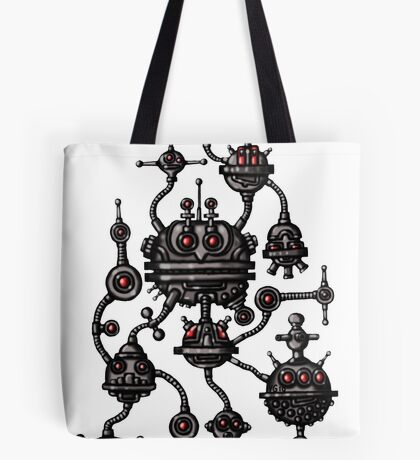 Robotic Life Form cartoon drawing Tote Bag