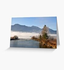misty scape Greeting Card