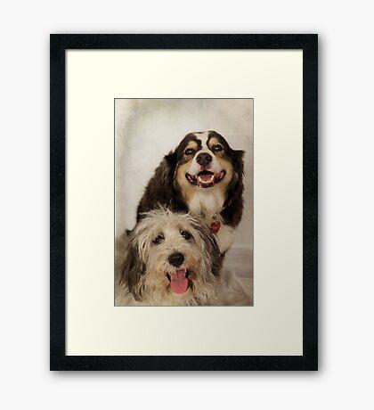 Lola and Bailey Framed Print