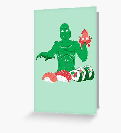 Sushi from the Black Lagoon Greeting Card