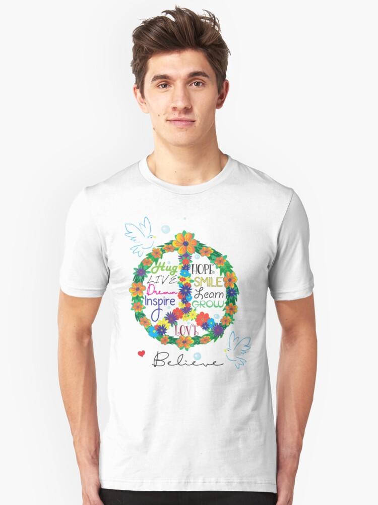 Floral Peace Unisex T-Shirt Front