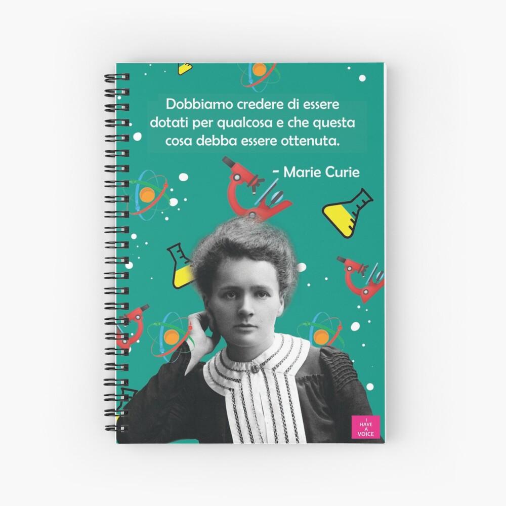 Marie Curie - Scientist Spiral Notebook