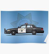 Kalifornien-Autobahn-Patrouille Ford Crown Victoria Police Interceptor Poster