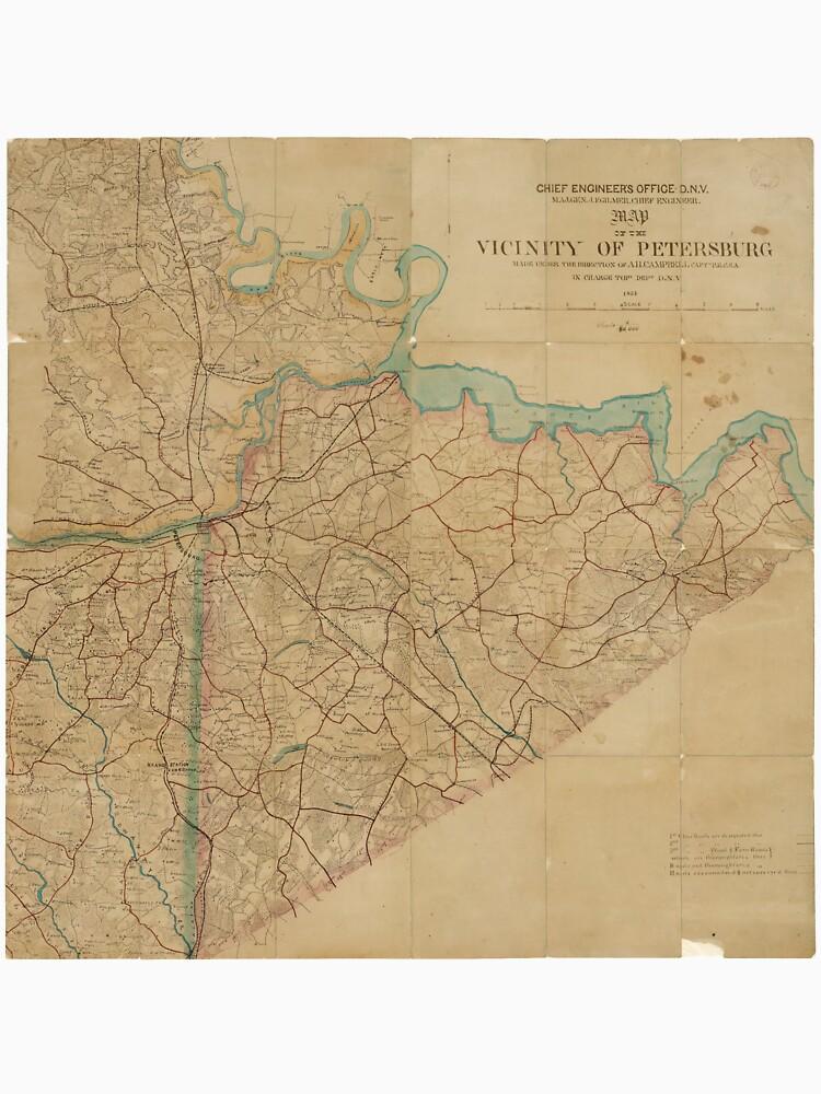 Map of Petersburg Virginia (1864) by allhistory
