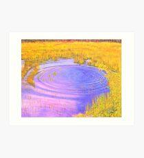 Autumn Marsh Ripples Art Print