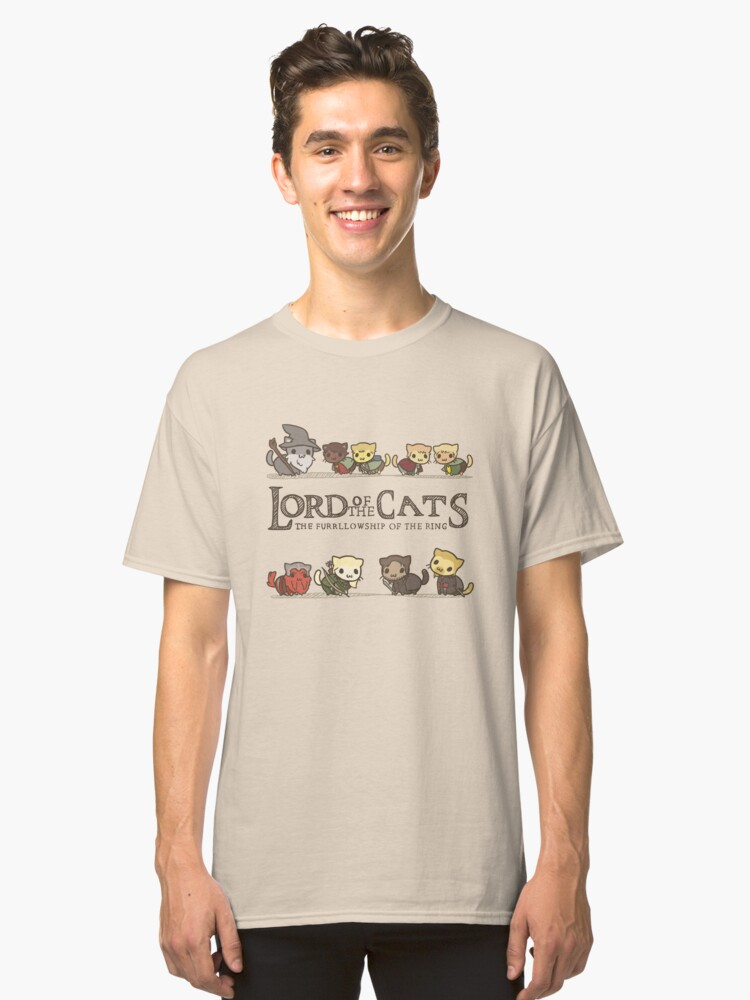The Furrlowship of the Ring Classic T-Shirt Front