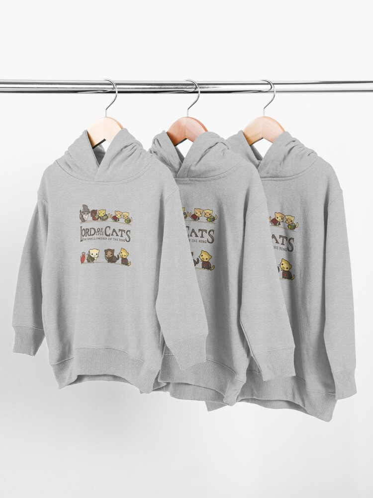 Alternate view of The Furrlowship of the Ring Toddler Pullover Hoodie