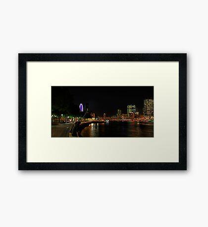 Brisbane River by Night Framed Print