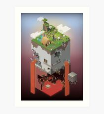 World of Blocks Art Print
