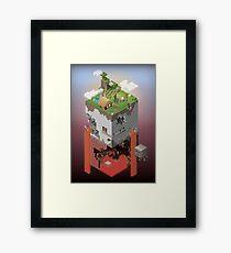 World of Blocks Framed Print