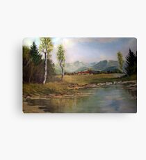 Mirror of nature Canvas Print