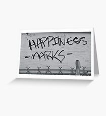 happiness marks Greeting Card