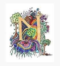 M for Margaret - an illuminated letter Photographic Print
