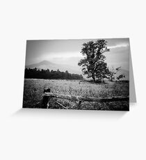 Cades Cove B&W Smoky Mountains Valley 1  Greeting Card