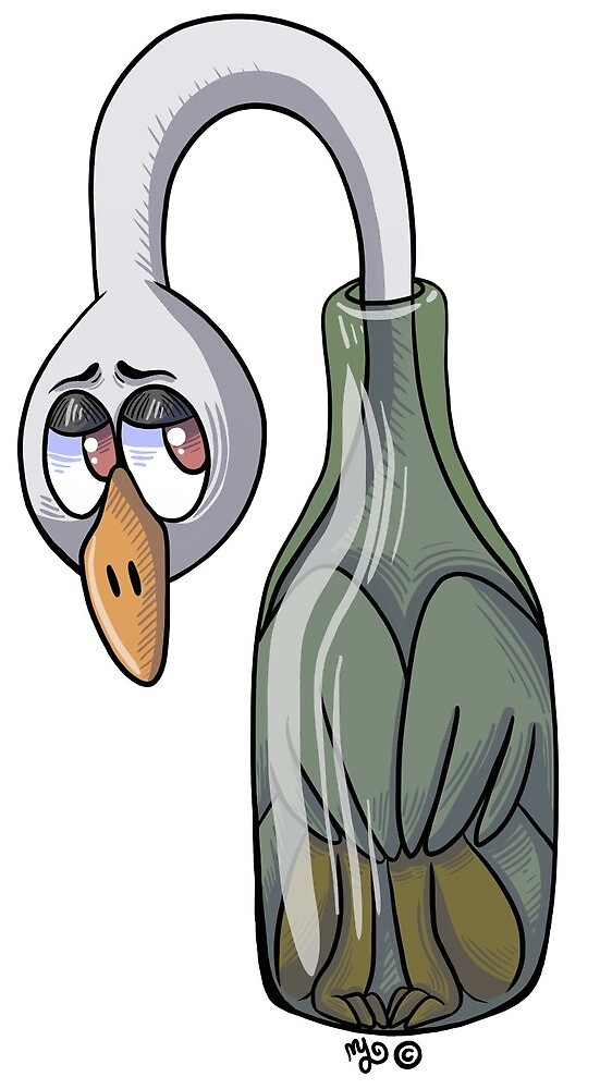 Bottle Goose by Pigeon-Daddy
