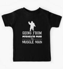 Michelin Man to Muscle Man Kids Tee