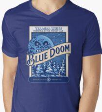 Camiseta de cuello en V Blue Doom