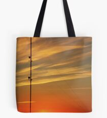 Communication Sunset Tote Bag