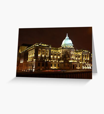 The Mitchell Library, Glasgow at Night Greeting Card