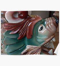 Carousel Dragon Seat - detail - Butchart Poster