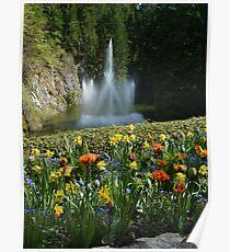 Sunken Gardens Fountain - Butchart Poster