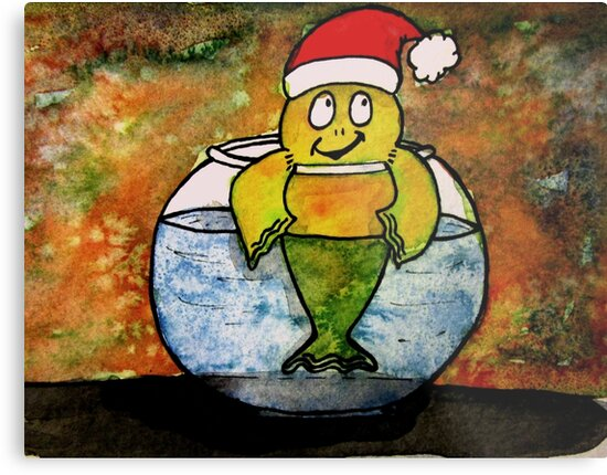 Merry Christmas Fish by Tricia Anne Michael