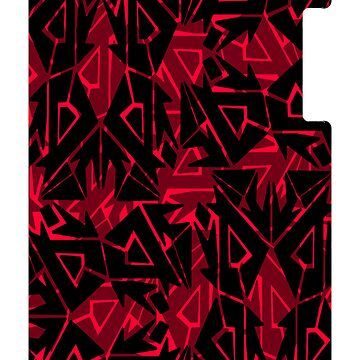 Red Arrowed Tribe Pattern by Cranemann