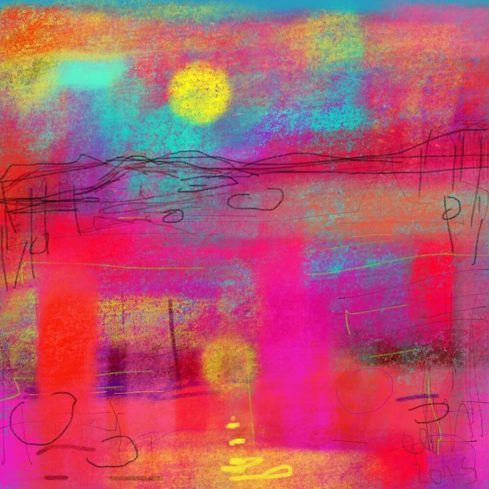 Tartan landscape by Gwendolynart