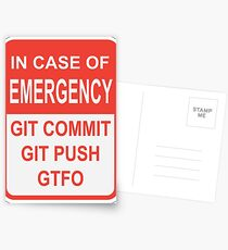Git Emergency Postcards