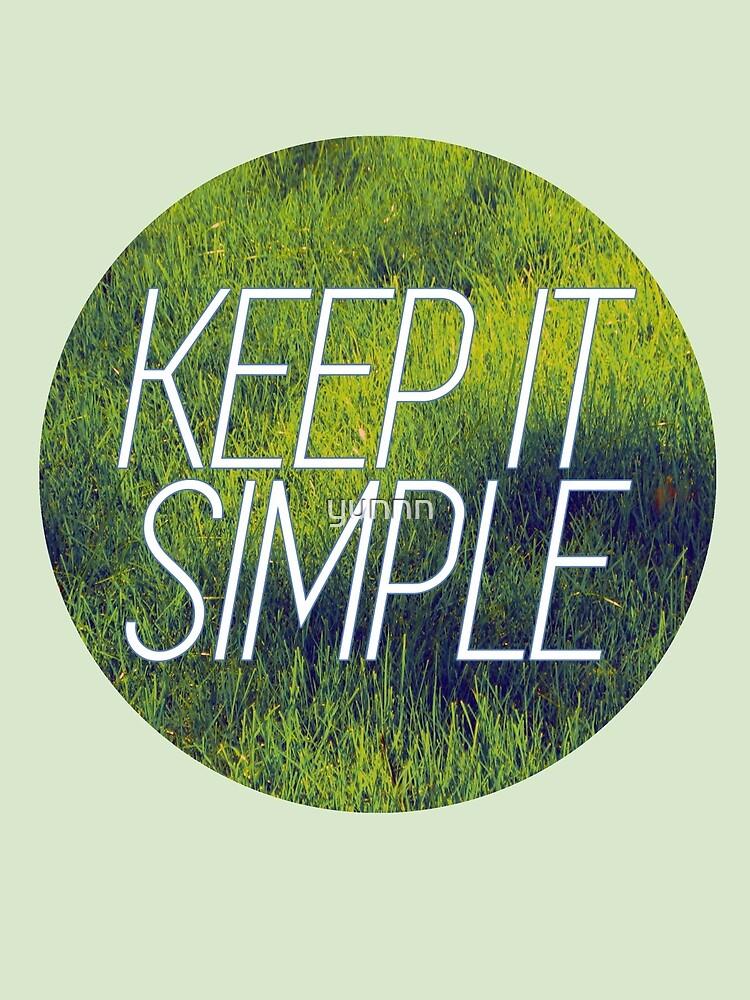 keep it simple by yunnn