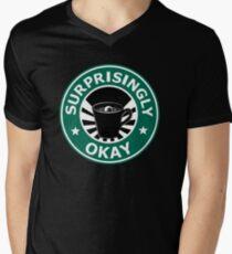 Sherlock's Coffee (Surprisingly Okay) Men's V-Neck T-Shirt