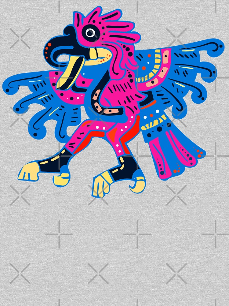 Colorful Mesoamerican Deity  by FrenchToasty