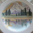 Tuolumne River (Charger Plate) wip # 2 by Sally Sargent