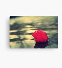 Water with a flower Image Canvas Print
