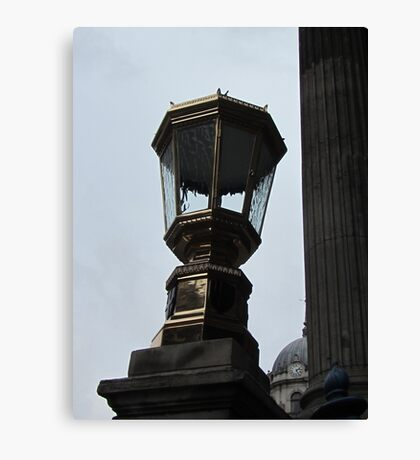 London City lamp post  Canvas Print